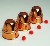 Cups & Balls - Plated Copper- Plastic