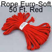 Rope, Soft 50 Ft. Red - Packaged