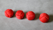 Monkey Fist Cups and Balls (4 Balls) by Leo Smetsters - Trick