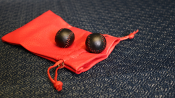 Chop Cup Balls Black Leather (Set of 2) by Leo Smetsers - Trick