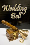 Wedding Bell, Brass w/ Ring Box