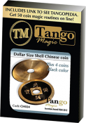 Dollar Size Shell Chinese Coin (Black) by Tango Magic (CH024)