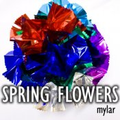 Spring Flowers Mylar, Large 11 inch