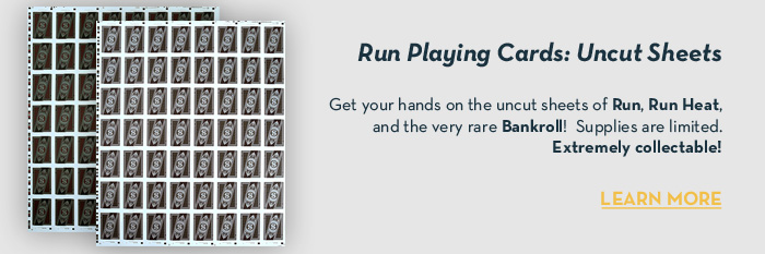 Run Playing Cards: Uncut Sheets