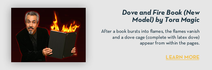 Dove and Fire Book (New Model) by Tora Magic