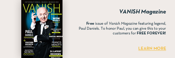 VANISH Magazine - January/Febuary 2016 - Paul Daniels