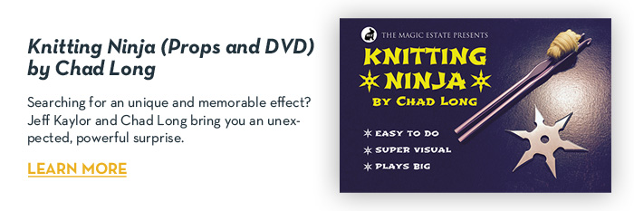 Knitting Ninja (Props and DVD) by Chad Long - DVD