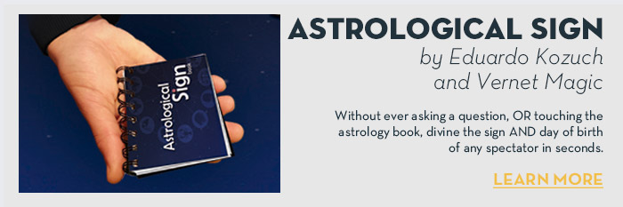 Astrological Sign by Eduardo Kozuch and Vernet Magic - Trick