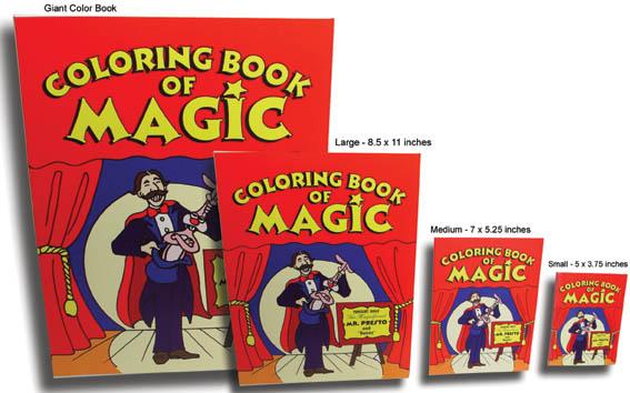 Magic Coloring Book - Medium (7 x 5.25 inches)
