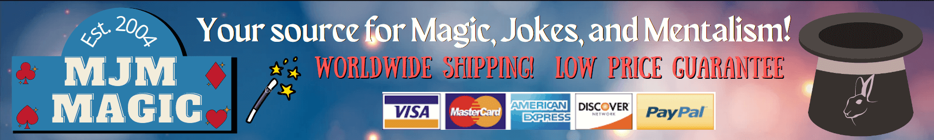 MJM Magic - Magic for Magicians, Jokesters, and Mentalists