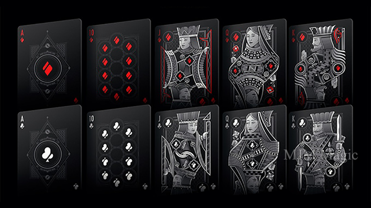 Double Black (Unbranded) Classic Edition Playing Cards - Click Image to Close