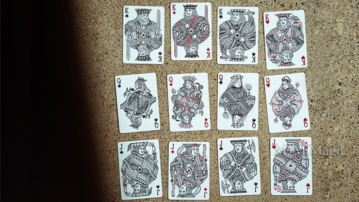 Blood Red Edition Playing Cards by Joker and the Thief - Click Image to Close