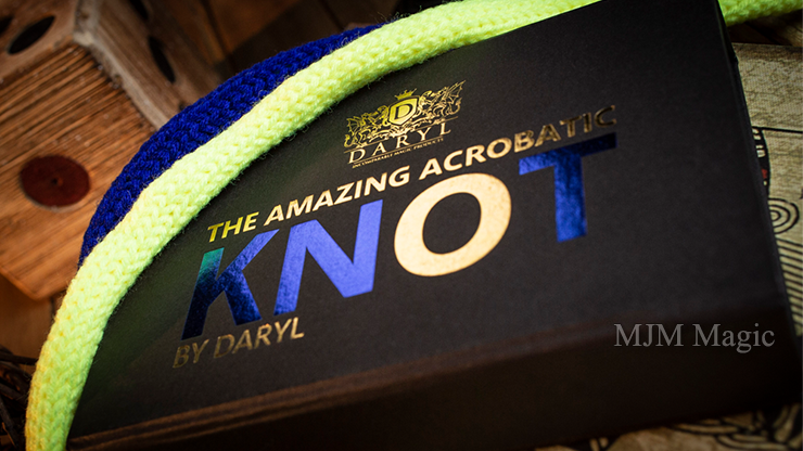 Amazing Acrobatic Knot w/xtra knot Blue and Yellow (Gimmicks and Online Instructions) by Daryl - Trick - Click Image to Close