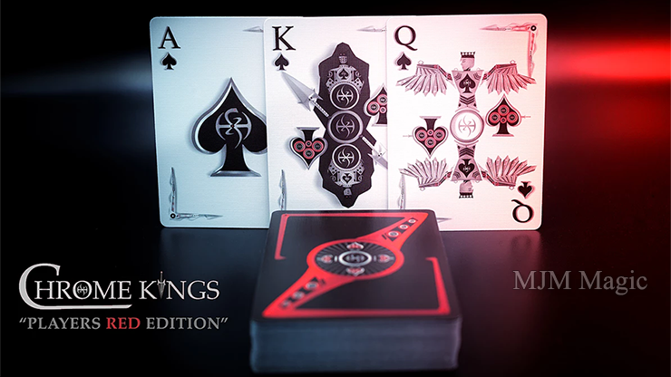 Chrome Kings Limited Edition Playing Cards (Players Red Edition) by De'vo vom Schattenreich and Handlordz - Click Image to Close