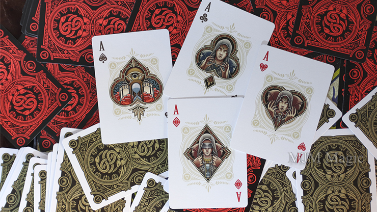 Primordial Greek Mythology Playing Cards (Gold Gilded Aether Edition) - Click Image to Close