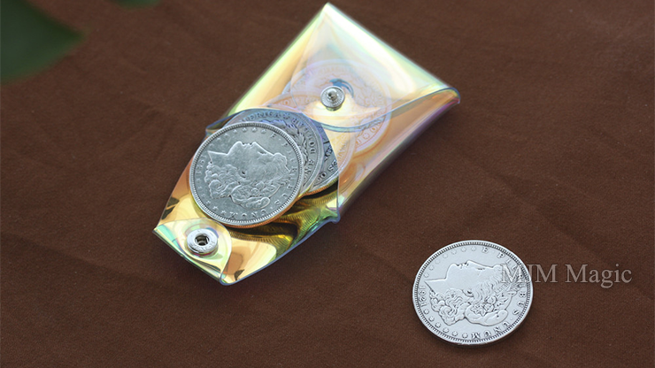Square Coin case (Aurora) by Gentle Magic - Trick - Click Image to Close