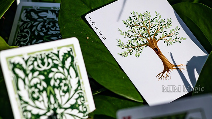 Leaves Collector's (White) Playing Cards by Card House Company - Click Image to Close