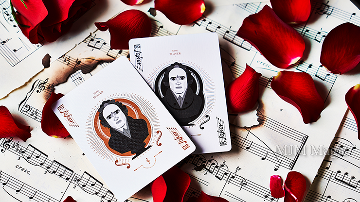 Piano Player Two-Key Edition Playing Cards by Bocopo - Click Image to Close