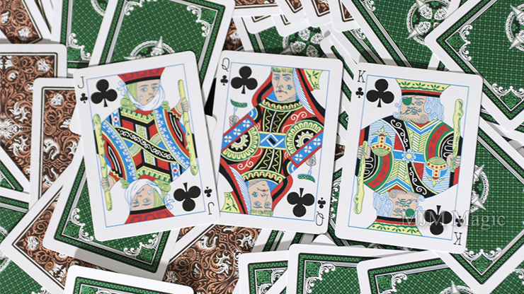 Limited Gilded Edition Late 19th Century Vanity (Clown) Playing Cards - Click Image to Close