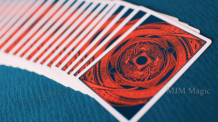 Cosmos Playing Cards (Red) - Click Image to Close