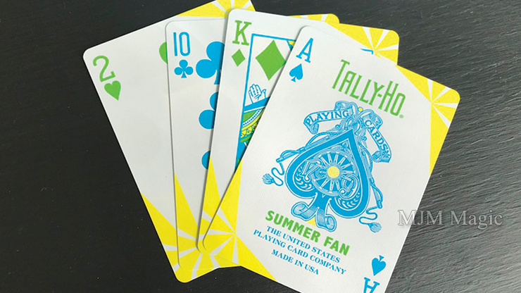 Tally Ho Fan Back Summer Playing Cards - Click Image to Close