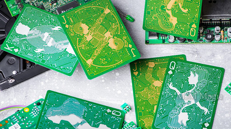 Circuit (PCB) Playing Cards by Elephant Playing Cards - Click Image to Close