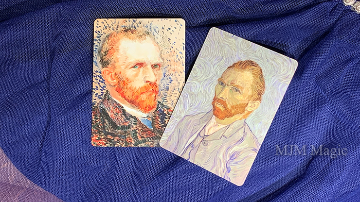 Limited Edition Gilded Vincent van Gough The Starry Night Playing Cards - Click Image to Close