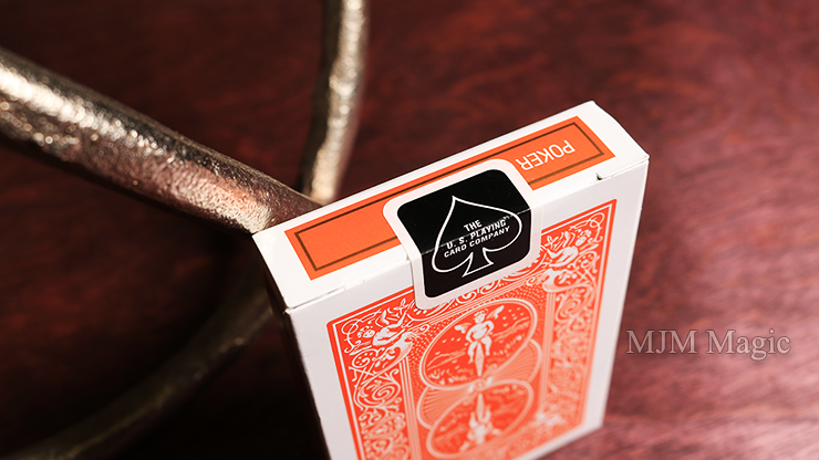 Bicycle Orange Playing Cards by USPCC - Click Image to Close