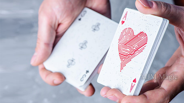 Circuit (White) Playing Cards by Elephant Playing Cards - Click Image to Close