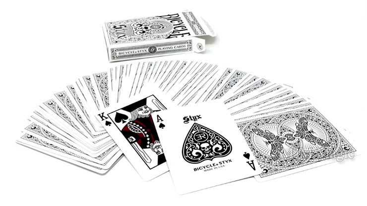 Bicycle Styx Playing Cards (White) by US Playing Card Company - Click Image to Close