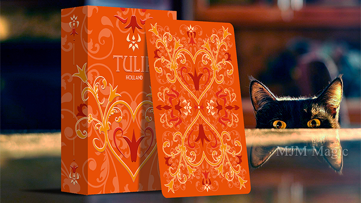 Tulip Playing Cards (Orange) by Dutch Card House Company - Click Image to Close