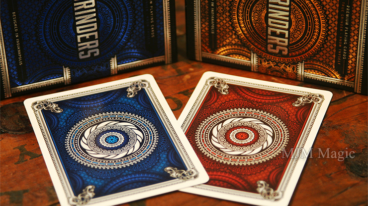 Blue Grinders Playing Cards by Midnight Cards - Click Image to Close