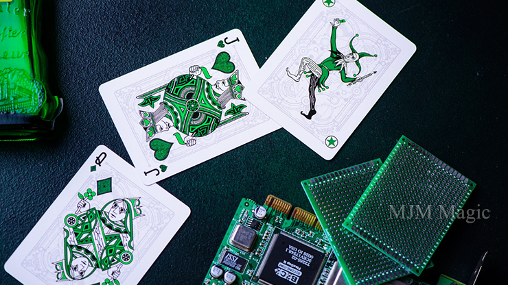 Cyberpunk Green by Elephant Playing Cards - Click Image to Close