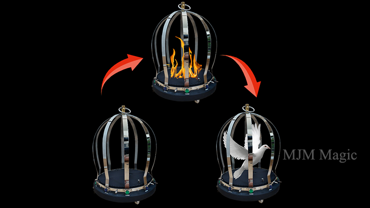 FIRE CAGE (1 Time) by 7 MAGIC - Trick - Click Image to Close