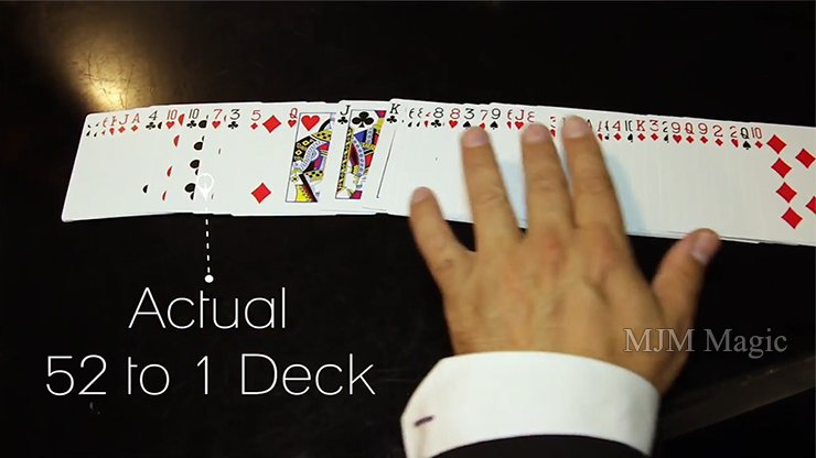 The 52 to 1 Deck Red (Gimmicks and Online Instructions) by Wayne Fox and David Penn - Trick - Click Image to Close