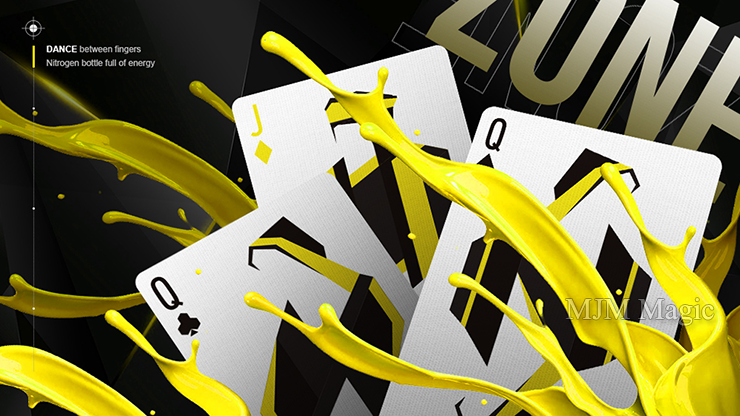 ZONE (Yellow) Playing Cards by Bocopo - Click Image to Close