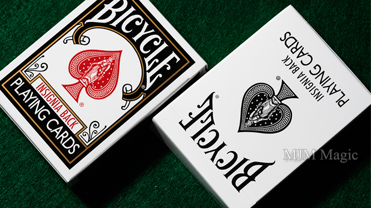 Bicycle Insignia Back (White) Playing Cards - Click Image to Close