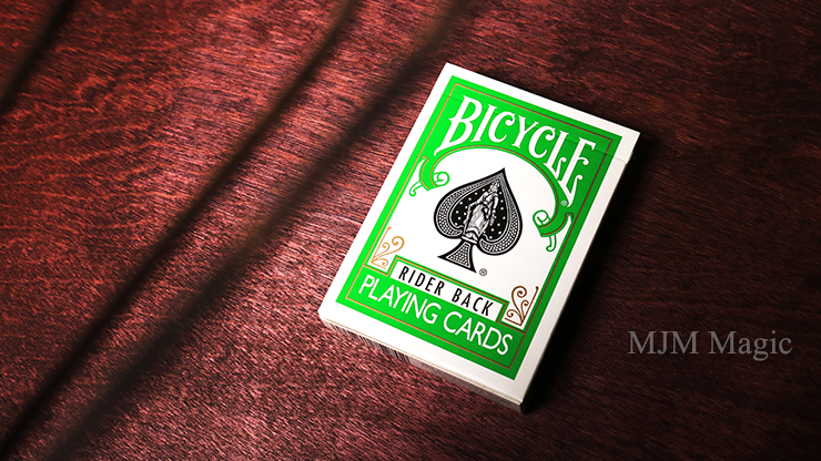 Bicycle Green Playing Cards by US Playing Card Co - Click Image to Close