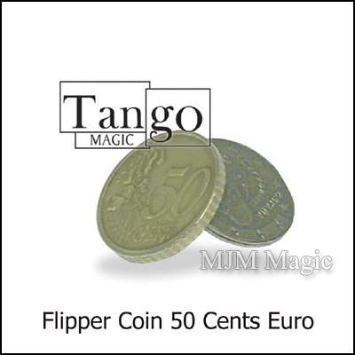Magnetic Flipper Coin E0033 (50 Cent Euro) by Tango- Trick - Click Image to Close