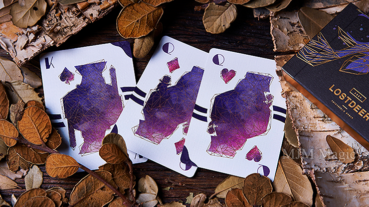 Lost Deer Black Edition Playing Cards by BOCOPO - Click Image to Close