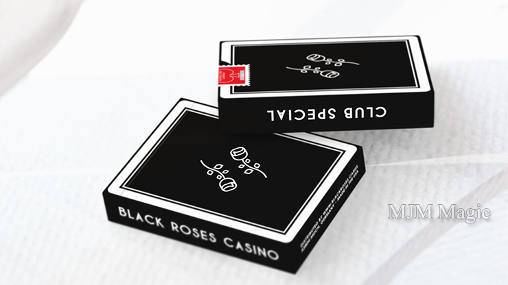 Black Roses Casino Playing Cards - Click Image to Close