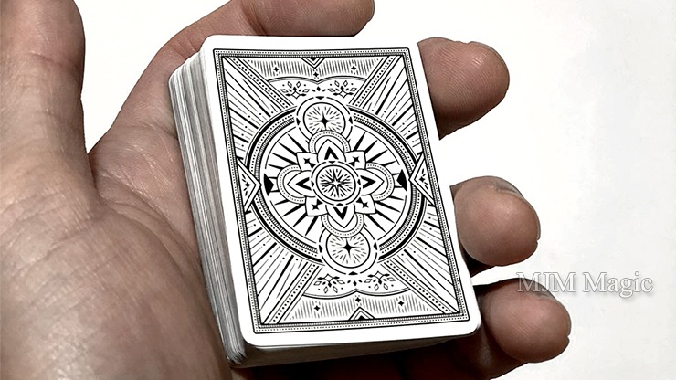 Mini Agenda Playing Cards (White) - Click Image to Close