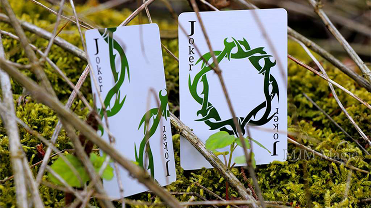Wood Element (White) Playing Cards - Click Image to Close