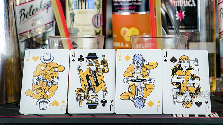 Nightclub Champagne Edition Playing Cards by Riffle Shuffle - Click Image to Close