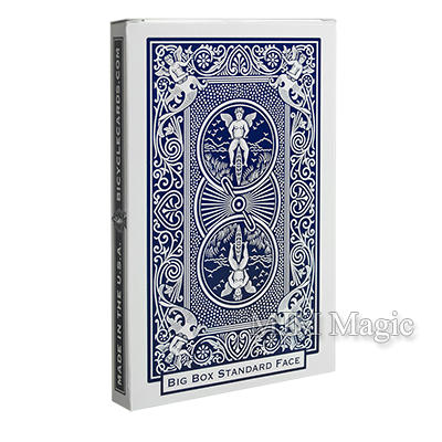 Big Bicycle Cards (Jumbo Bicycle Cards, Blue) - Click Image to Close